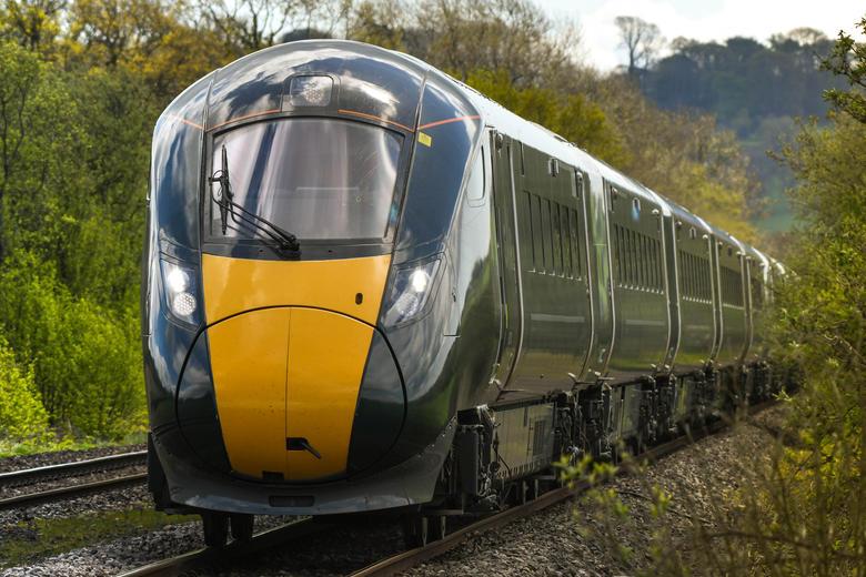 great western train in countryside
