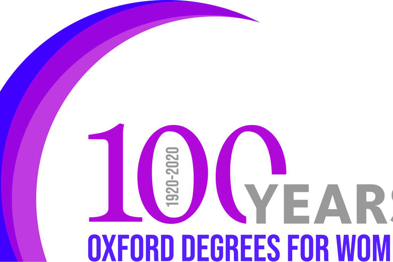100 years  degrees for women University logo