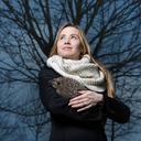 Joanna Bagniewska with hedgehog, courtesy of Jadwiga Bronte
