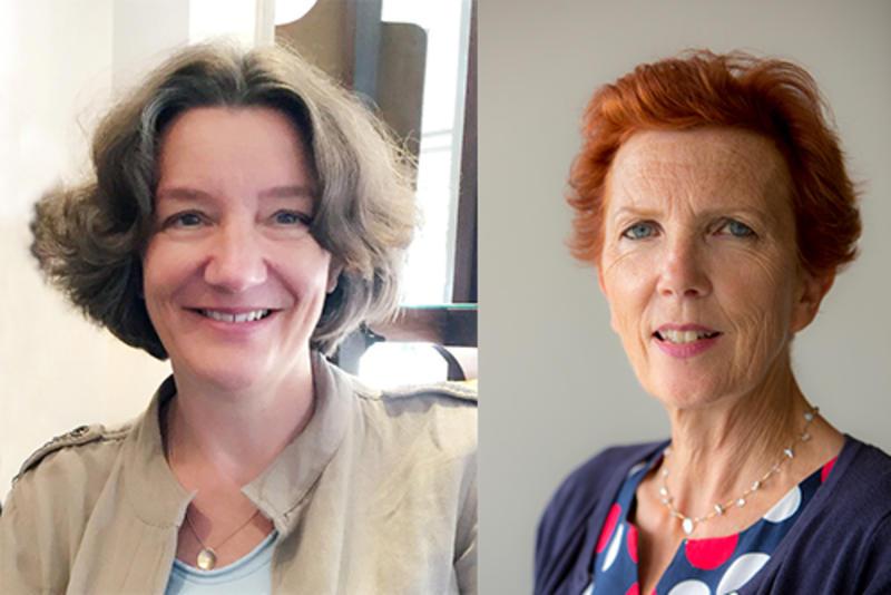 Professor Karen O'Brien and Jan Royall